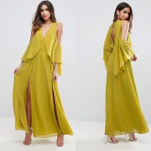 Cold Shoulder Drape Maxi Dress